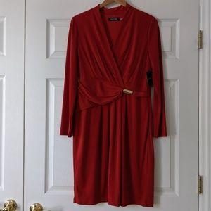 Ellen Tracy Faux Wrap Dress